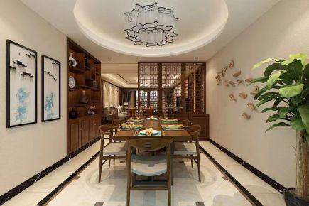济南中式风格四居室装修效果图