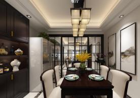 绍兴中式风格三居室装修效果图