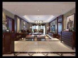 西安180平米美式风格三居室装修效果图