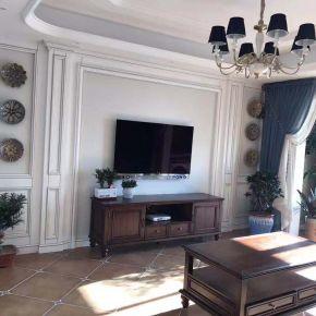 常州美式风格三居室装修效果图