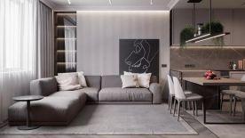 深圳现代风格三居室装修效果图