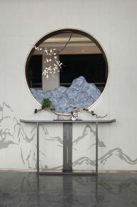 六安中式风格三居室装修效果图