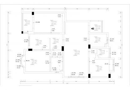 六安混搭风格四居室装修效果图