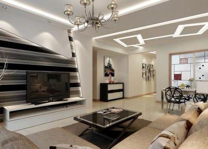 宁波现代风格三居室装修效果图