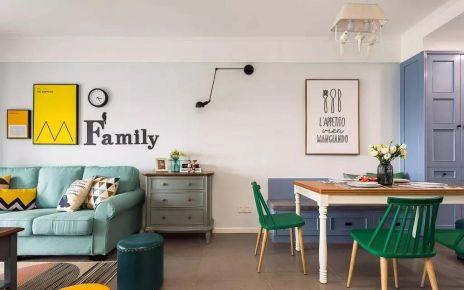 咸阳美式风格三居室装修案例 清新优雅,浪漫高档!