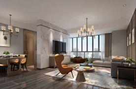 宁波现代简约风格三居室装修案例