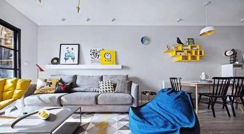 咸阳现代风格三居室装修案例 超赞吧台+阳台游戏室设计!