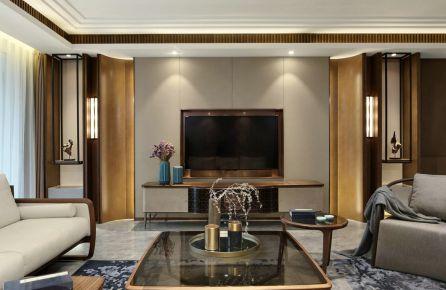 天津新中式风格四居室装修效果图
