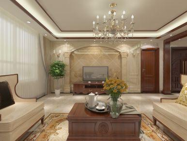 天津美式风格四居室装修效果图