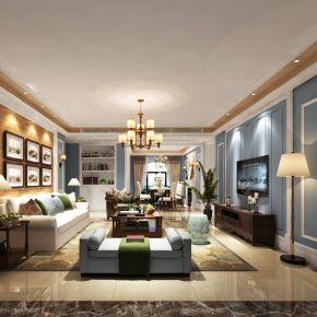 天津地中海风格三居室装修案例