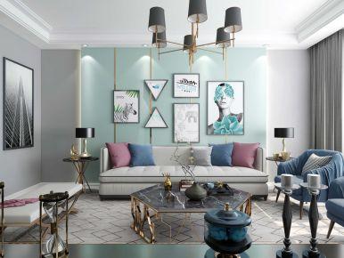 南京欧式简约风格三居室装修效果图