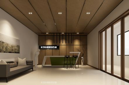 长沙现代风格办公室装修效果图