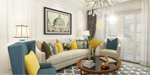 六安欧式风格两居室装修效果图