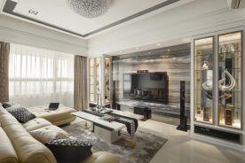 武汉复古风格两居室装修效果图