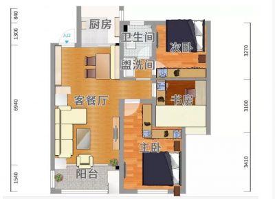 广州简约风格小户型装修效果图