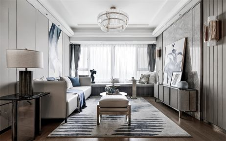 广州现代风格两居室装修效果图