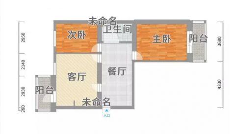 广州简约风格两居室装修效果图