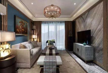 佛山罗马新都现代新中式三居室装修风格,气质非凡!