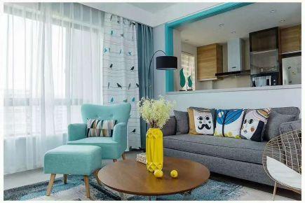 石家庄地中海风格两居室装修效果图