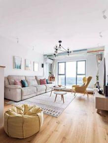 佛山帝景蓝湾93平北欧风三居室装修 北欧三居室装修效果图