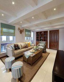 佛山名汇浩湖湾160㎡美式复式楼装修案例