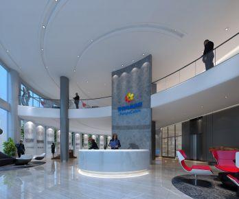 广州现代风格办公室装修效果图