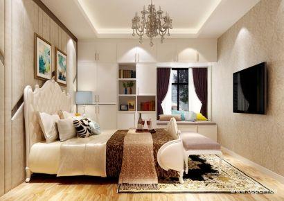 广州美式风格三居室装修效果图