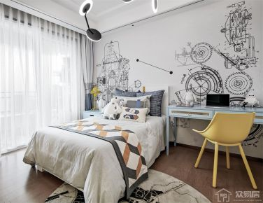 绍兴现代风格两居室装修效果图