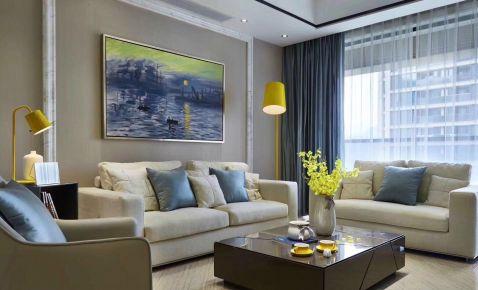 西安美式风格三居室装修效果图