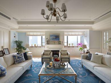 西安市普华浅水湾小三室简美河景房 美式三居室装修案例