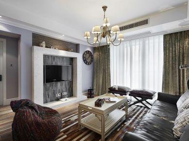 西安现代美式两居装修效果图