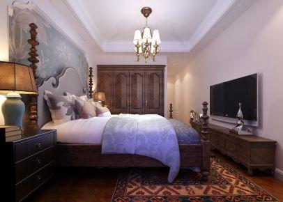 青岛天意华苑现代美式风三居室装修,用淡蓝色打造清新感