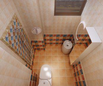 青岛美式风格二居室装修效果图 小户型参考装修案例