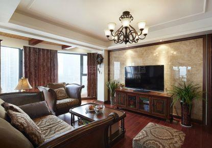 西安市浐灞半岛简美河景三居室装修案例