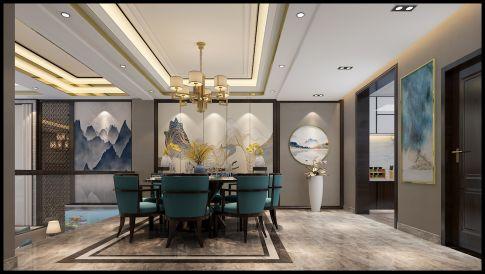 太原市富丽华庭中西混搭风格别墅装修案例欣赏
