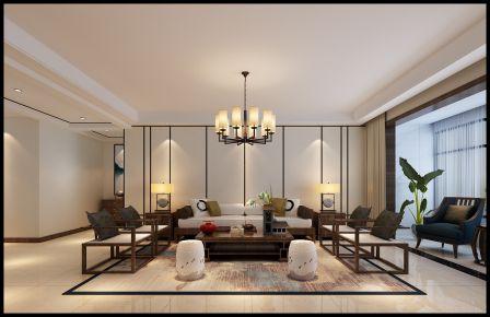 太原市龙城壹号轻奢雅致的中式别墅装修,东西融合