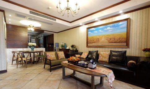 武汉福星惠誉东南亚风格二居室,享受异域风情之美