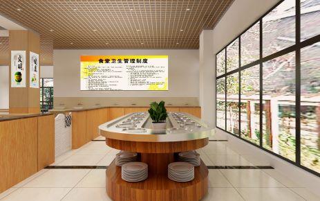 淄博职业技术学院餐厅简约装修设计效果图