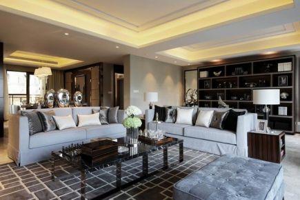 武汉市碧桂园后现代风格二居室室内装修实景图