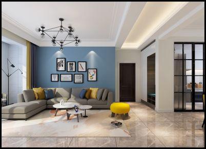 太原市中正锦城简约风格三居室装修效果图