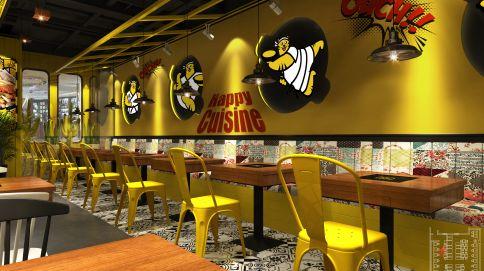 太原市茂业中心创意餐厅装修效果图
