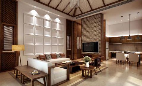厦门东南亚风格两居室装修案例
