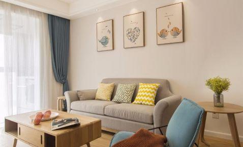 厦门两居室北欧风格装修效果图