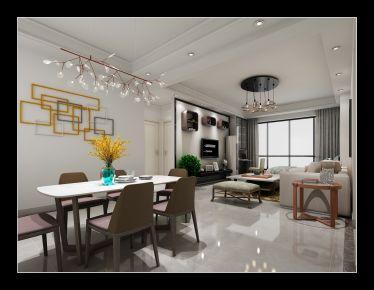 绵阳简约风格两居室装修效果图