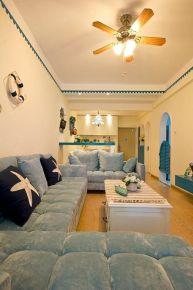 西安地中海风格两居室装修效果图