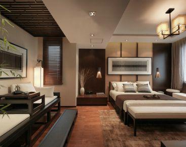 石?#26131;?#35199;美花盛新中式风格三居室装修案例