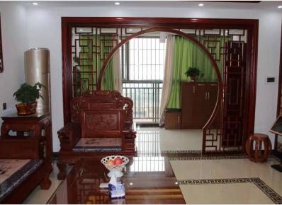 广州中式风格三居室装修效果图