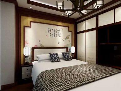 石家庄中式风格三居室装修效果图
