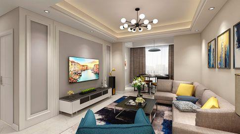 杭州现代简约风格88方三居室装修案例