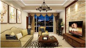 杭州美式风格120平方四居室户型装修案例